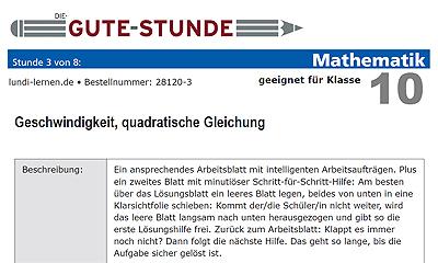 Kostenlose Förderstunde von NetzwerkLernen: Geschwindigkeit ...