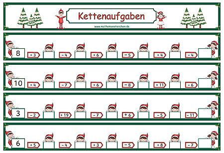 weihnachtliche rechenaufgaben von mathemonsterchen » lehrfuchs, rabatte und gutscheine für lehrer